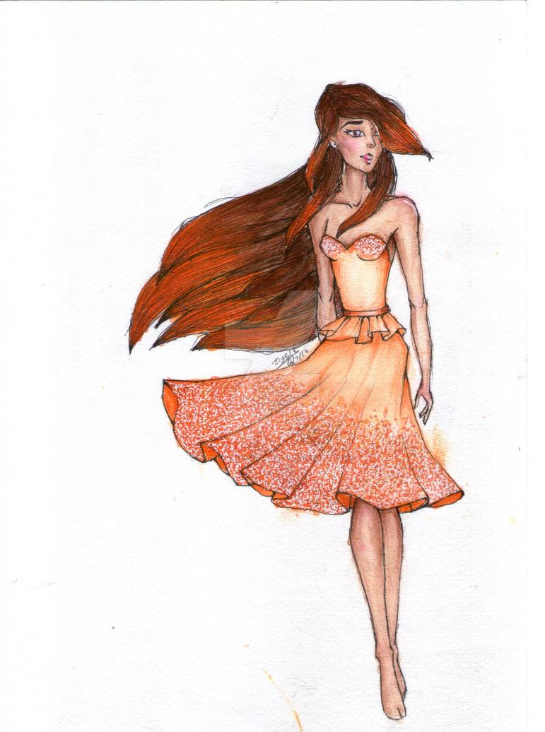 Fashion Illustration  :- FIRE by JigeshChhangani