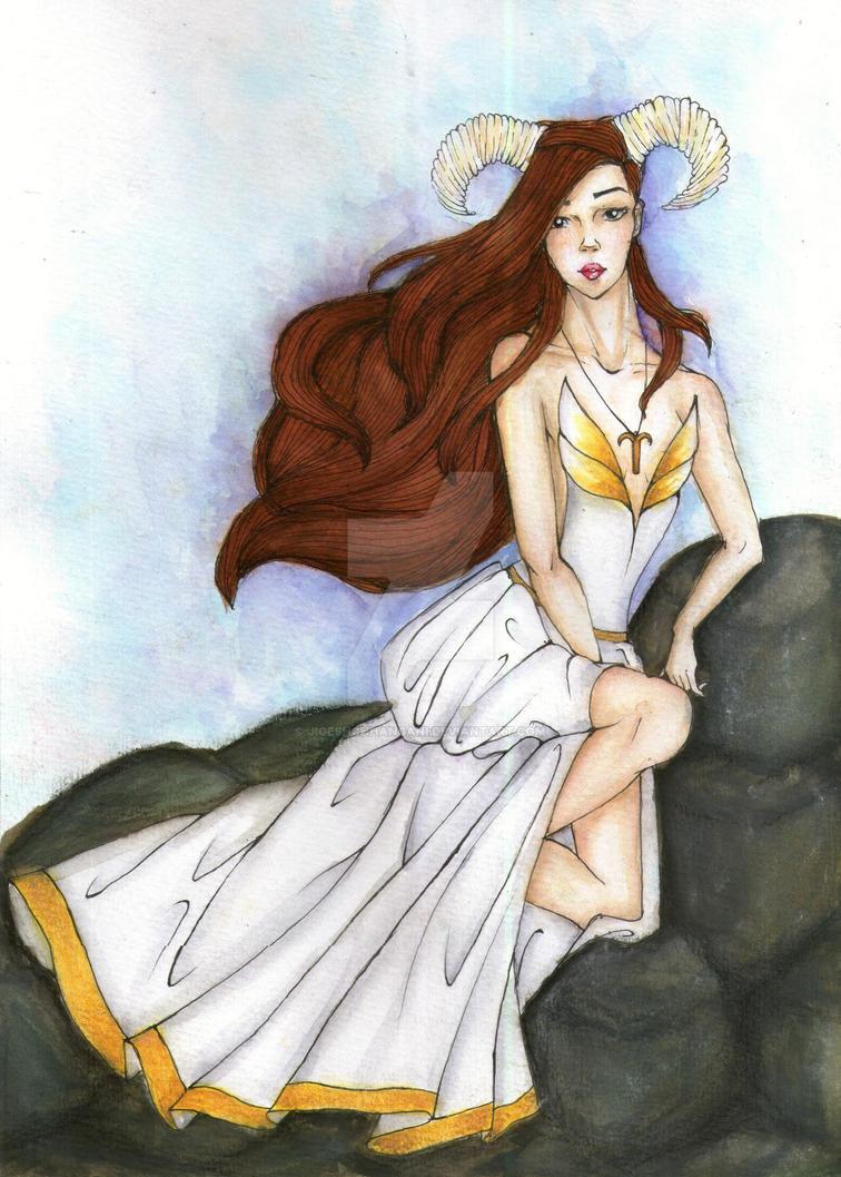 Watercolour Illustration :- ARIES by JigeshChhangani