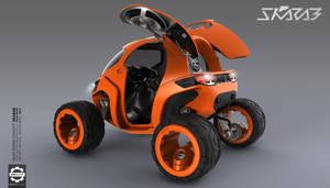 Skarab - Mars Rover - Rear