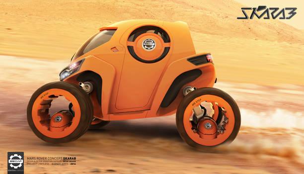 Skarab - Mars Rover - Running on Mars