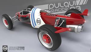 Pulqui Racer - F1 Retro Fighter - Rear