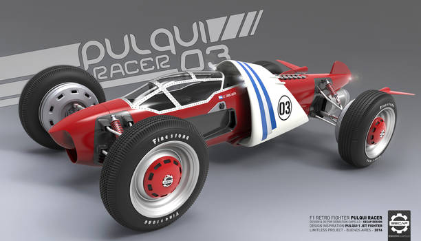 Pulqui Racer - F1 Retro Fighter - Front