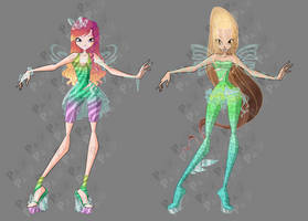 Roxy and Daphne Glassix - Concepts Art by PandBTV