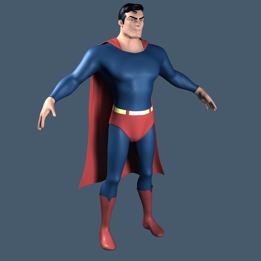 Superman 3d model 2 by supermanorigins on deviantart for Deviantart 3d models