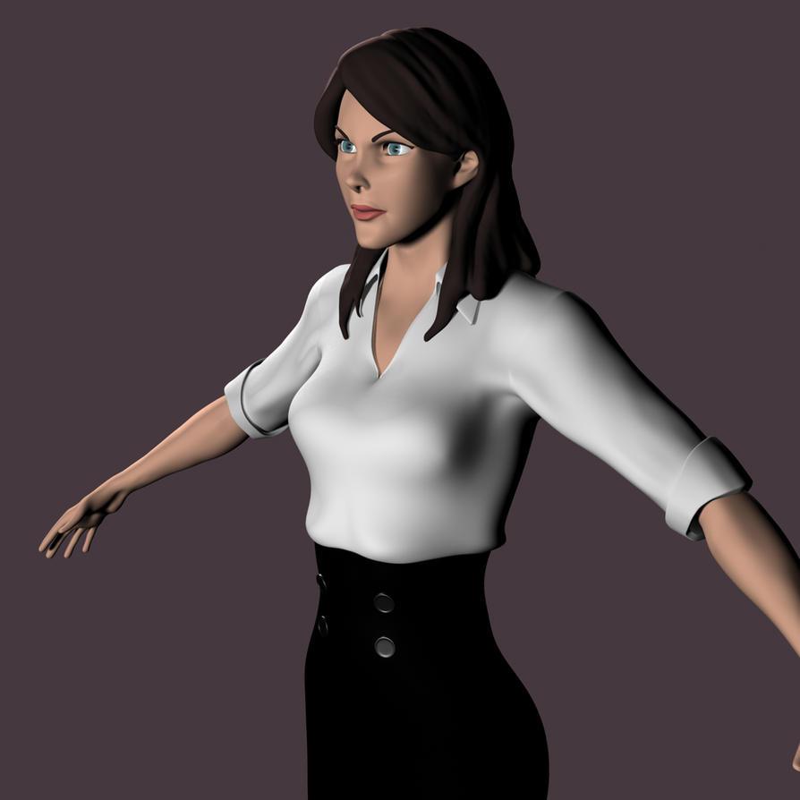 Lois lane 3d model 1 by supermanorigins on deviantart for Deviantart 3d models