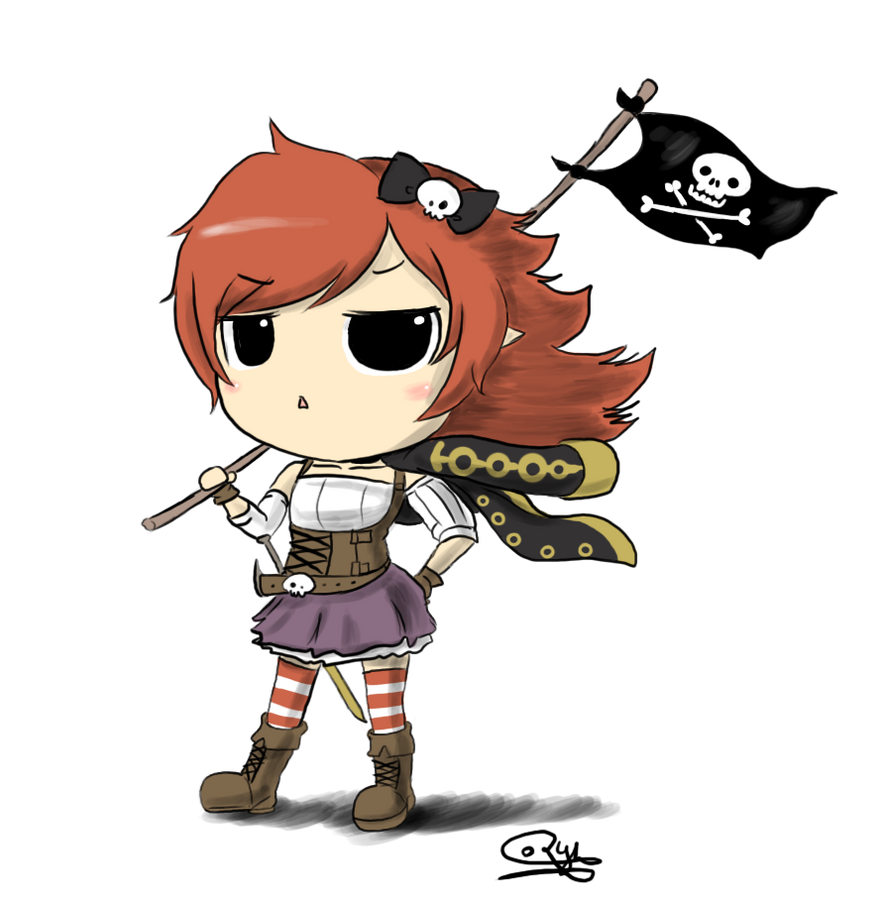 Pirate girl by RyhMozillaFirefox on DeviantArt - photo#45