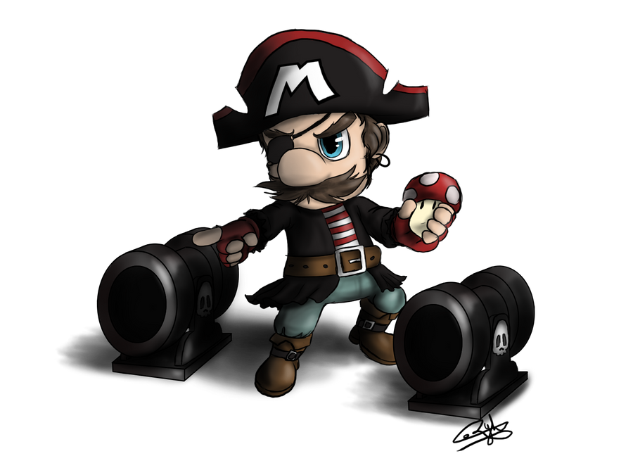 A Treasure that is Skin Deep [Job] Pirate_mario__by_ryhmozillafirefox-d5liw14