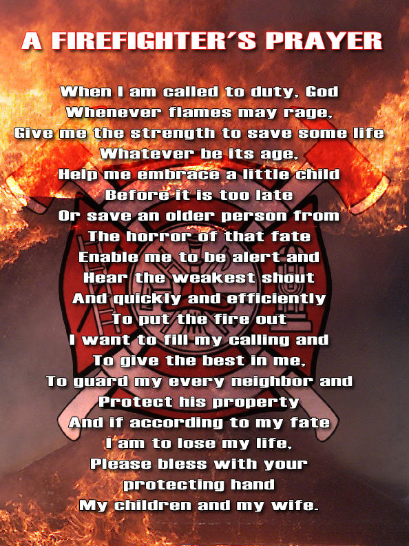A Firefighter's Prayer by Darkbry on deviantART