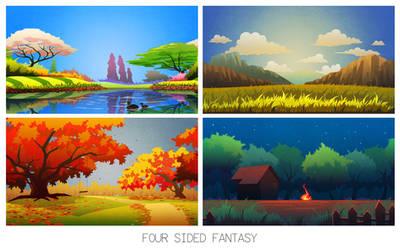 Four Sided Fantasy by jasonwang7