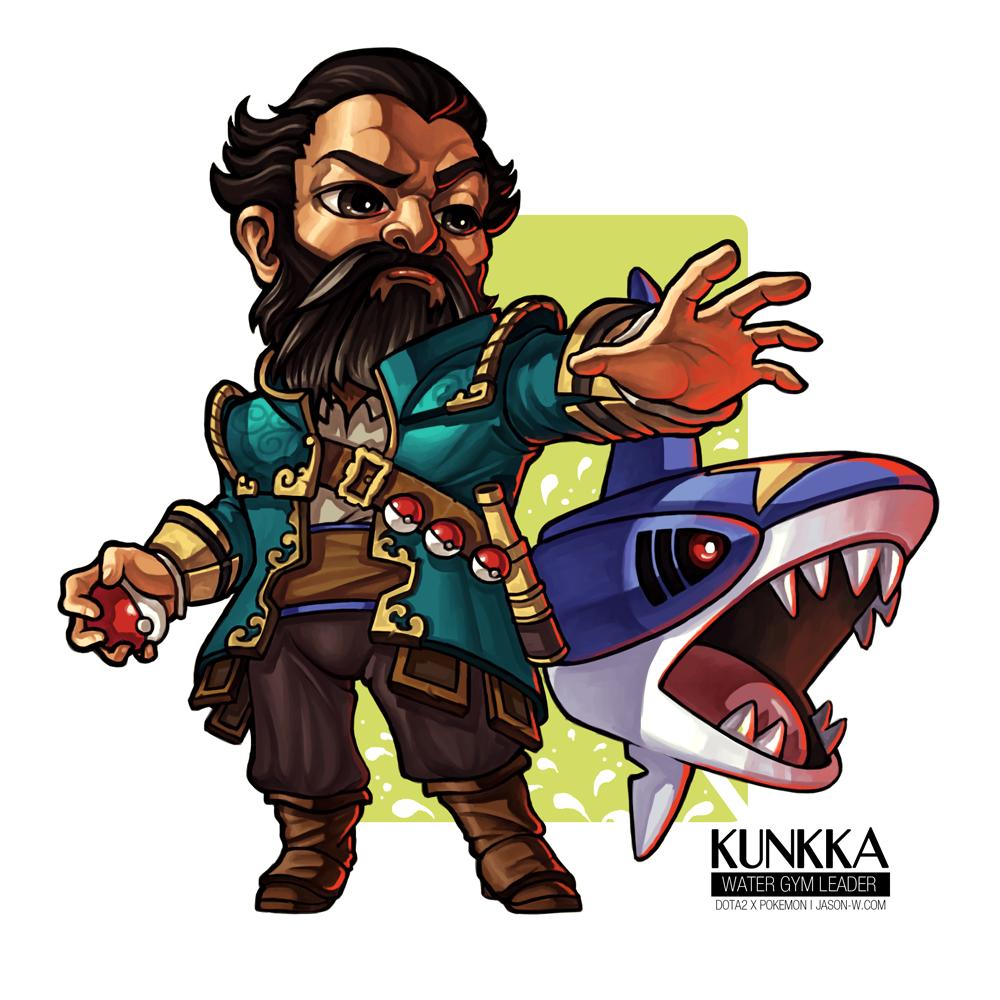 kunkka the water gym leader by jasonwang7 on deviantart