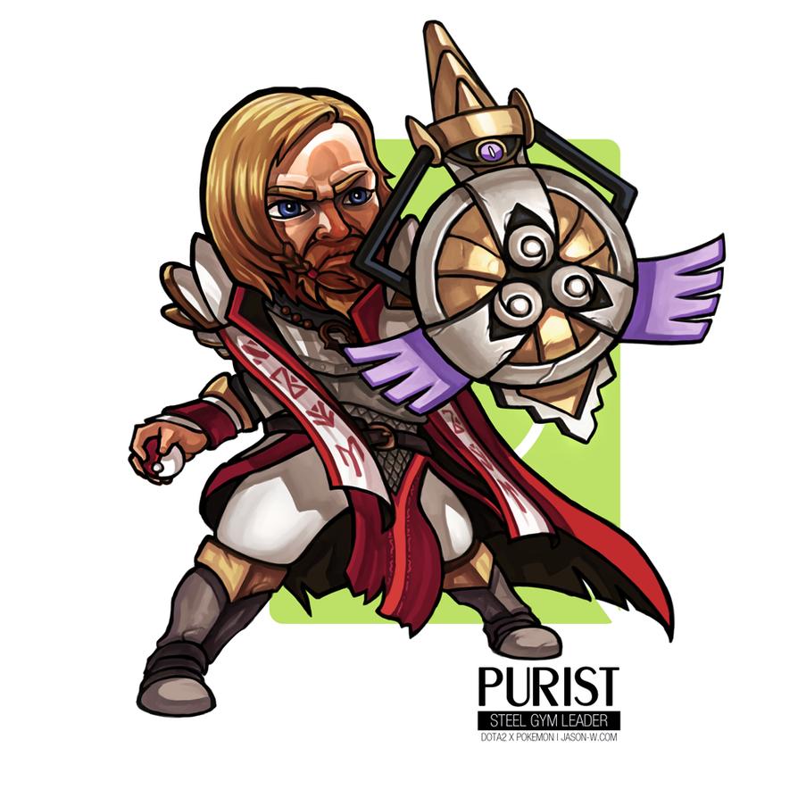Purist Thunderwrath the Steel Gym Leader by jasonwang7