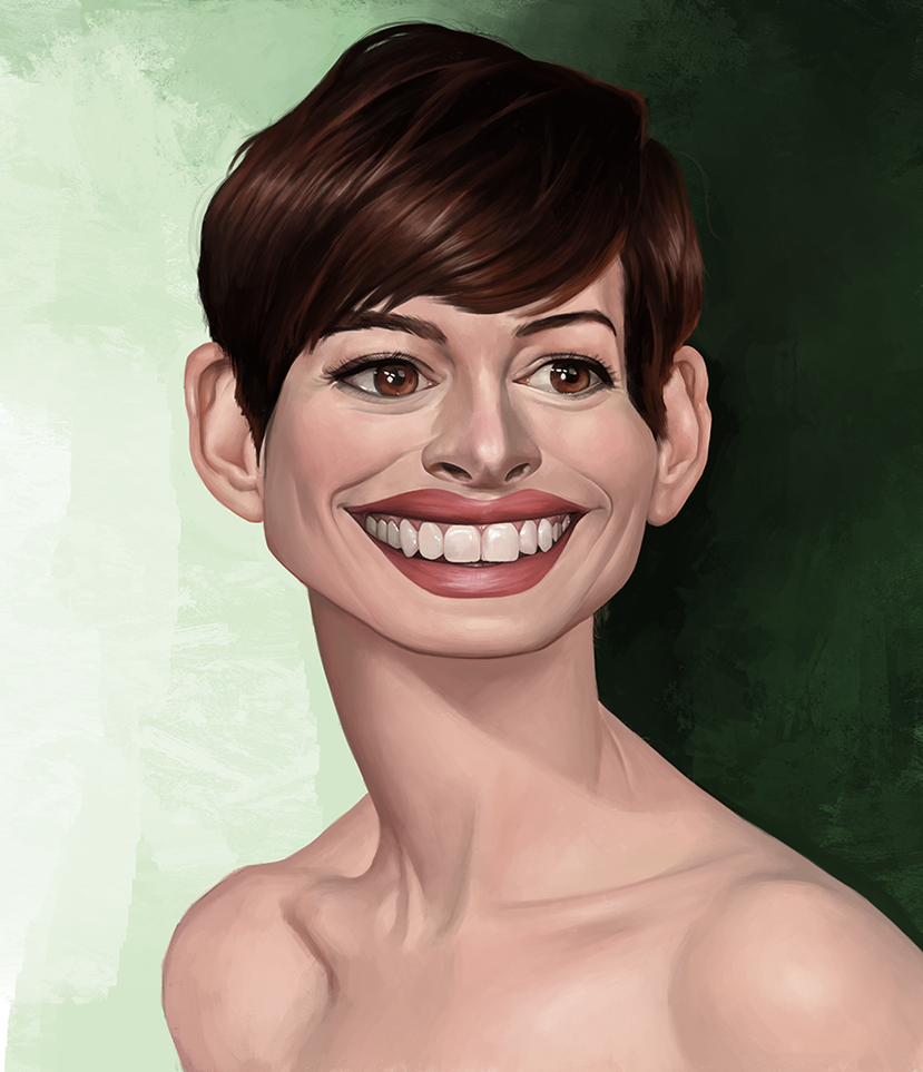 Anne Hathaway Drawing: Anne Hathaway Caricature By Jasonwang7 On DeviantArt