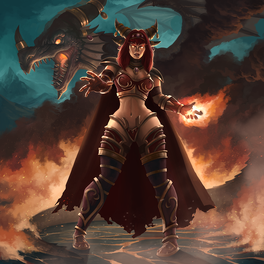 Alexstrasza, the Life Binder by jasonwang7