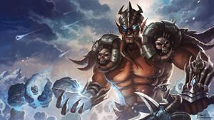 Lord Jaraxxus, Deathknight by jasonwang7