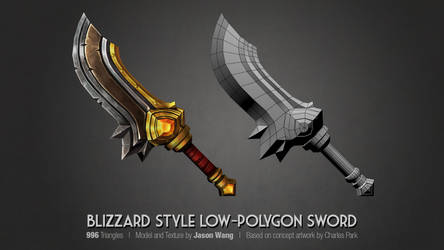 Blizzard Style Handpainted Sword by jasonwang7