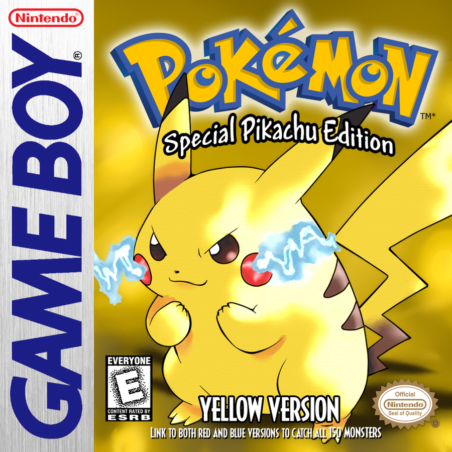Gameboy color and pokemon yellow -  Pokemon Yellow Version Game Boy Hq Box Art By Jadelune