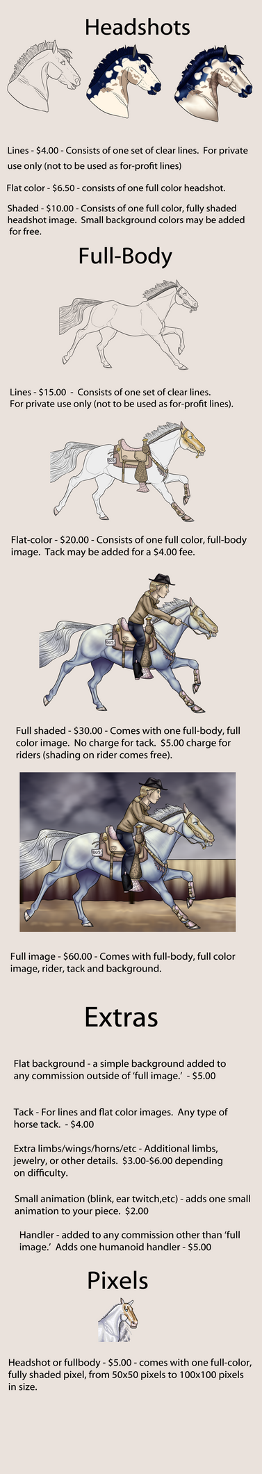 2016 Commission Prices by ValiantShadow