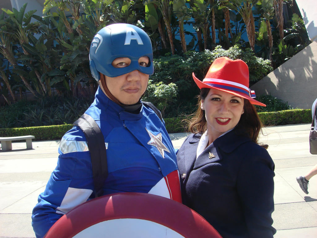 Captain America and Peggy by cablex452