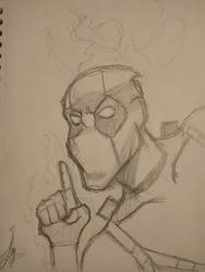 deadpool smoking by redhoodlycan