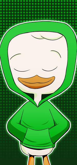DDR-styled DuckTales portrait (Louie)