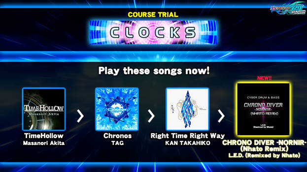 DDR fanmade course: CLOCKS