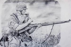 German Soldier by thdark