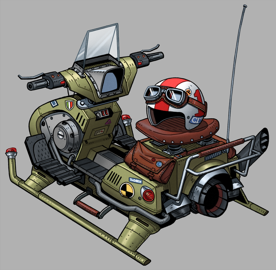 Vehicle Drawing by thdark
