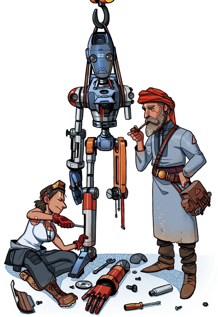 Desert Scavenger Characters by thdark