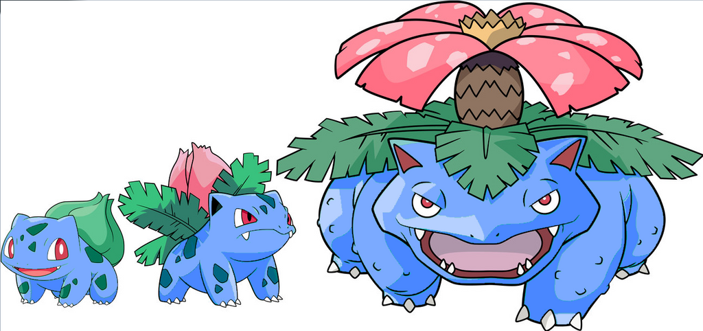 How i would change bulbasaurs line shinies by MonfernosFire