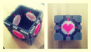 Companion Cube Perler