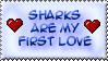 Love Sharks ::Stamp:: by BklynSharkExpert