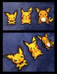 Pichu, Pikachu, and Raichu Set