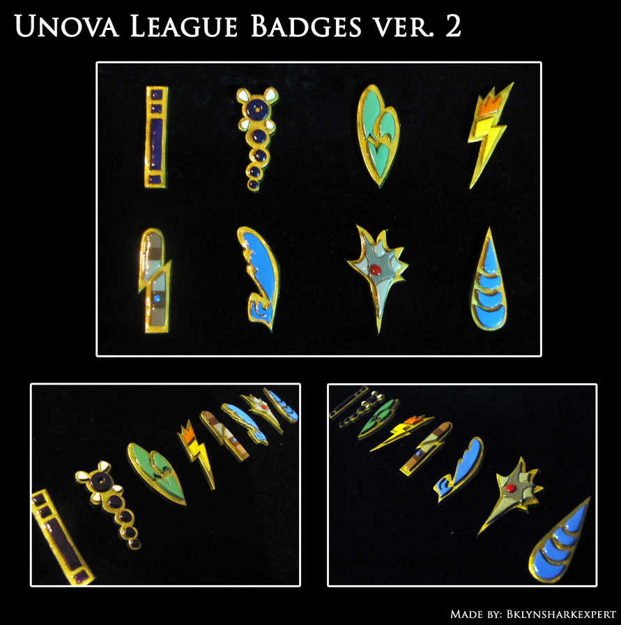 Unova Badges version 2 by BklynSharkExpert