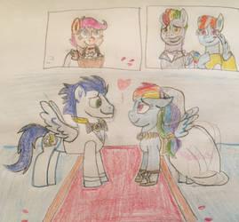 Rainbow Dash and Soarins wedding by 13mcjunkinm