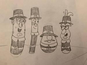 Veggietales Thanksgiving pilgrims