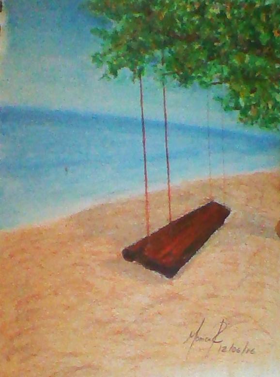 Drawing Beach by monik13inu