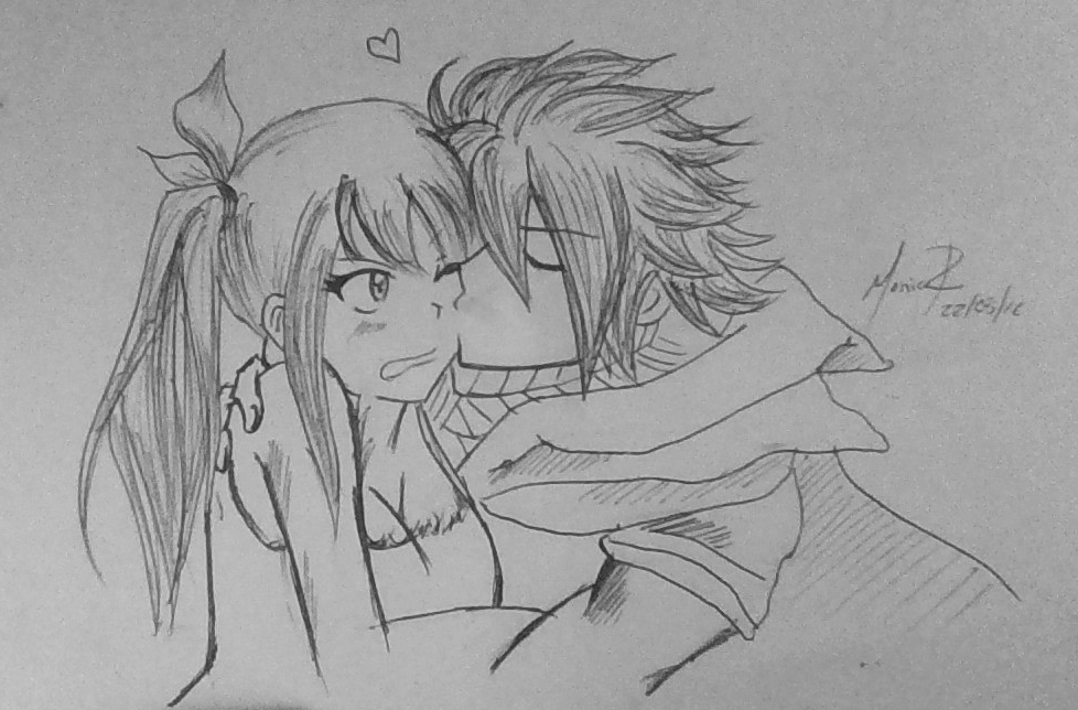 Natsu y Lucy by monik13inu