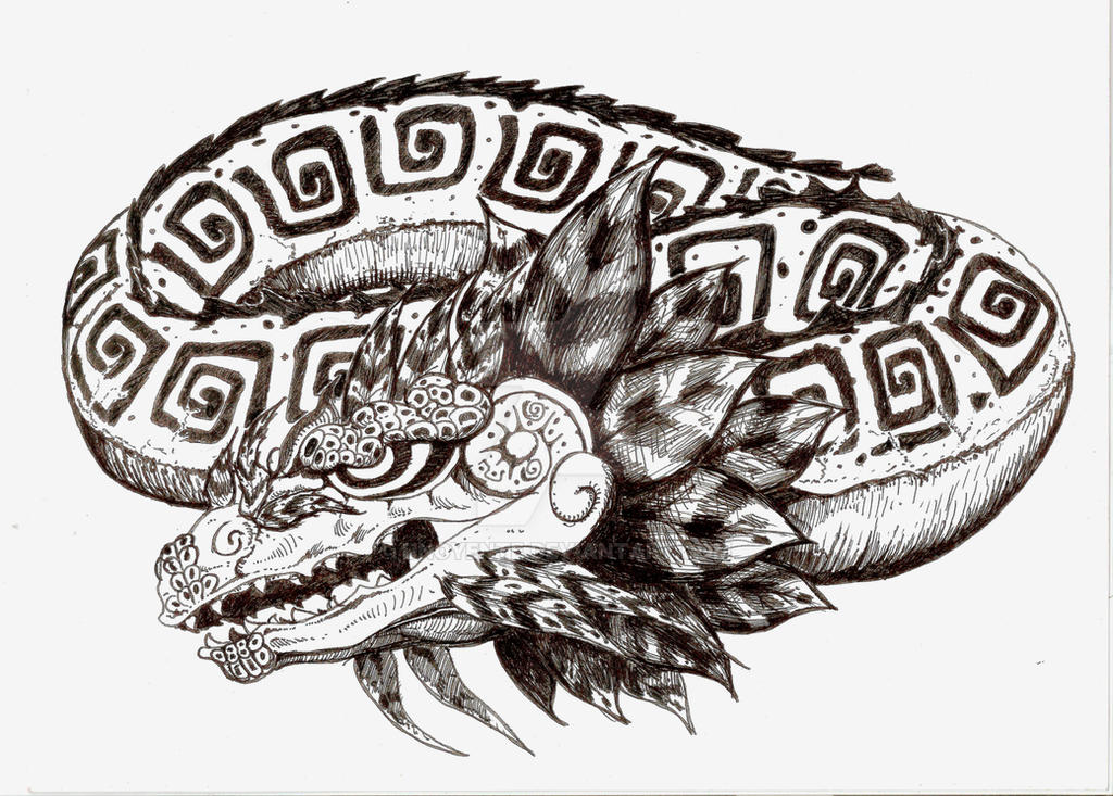 Quetzalcoatl Dragon Tattoo Design by Unoyente on DeviantArt
