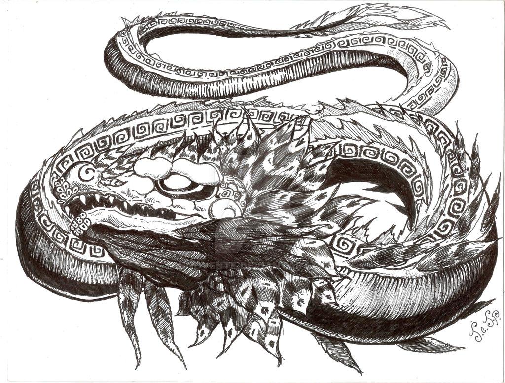 Quetzalcoatl Dragon Tattoo Design 2 Final By Unoyente On Deviantart