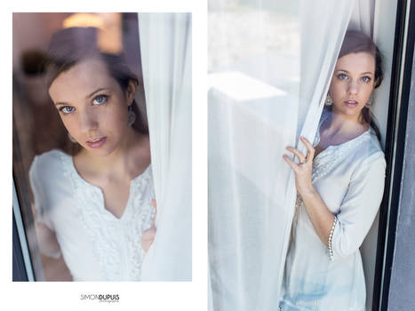 Pascaline Behin the window