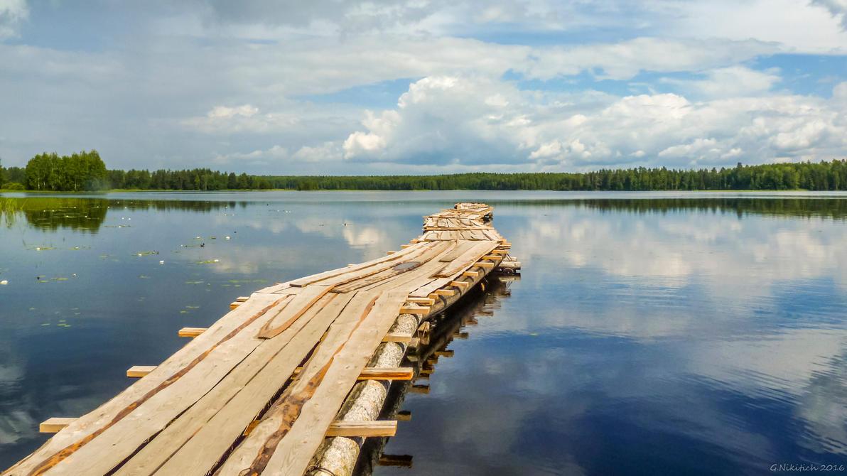 Karelian lake by GNikitich