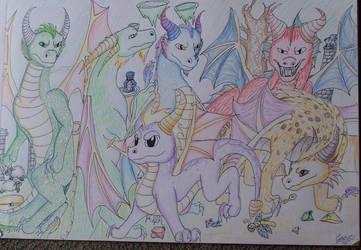 Dragons of Spyro by meroaw