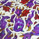 Spyro Stickers by meroaw