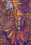 Intense Spiralling Stairs