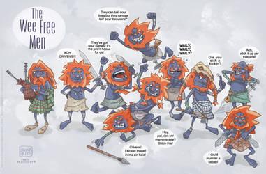 Mac Feegle Clan by BrunaBrito