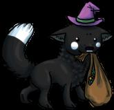 Black Fox Chibi - Halloween by Perocore