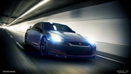 Nissan GTR Tunnel by DistortedImagery