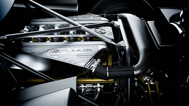 Pagani Zonda Engine Bay