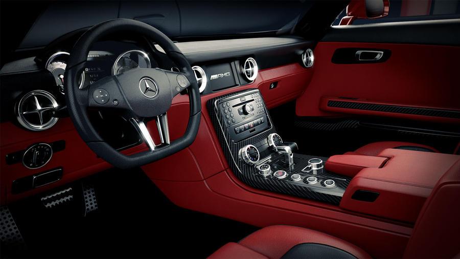 Mercedes SLS AMG Interior by DistortedImagery on DeviantArt