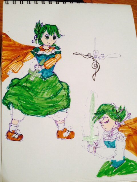 Madoka Magica origonal fan art/fic characters by CorinnaAngela